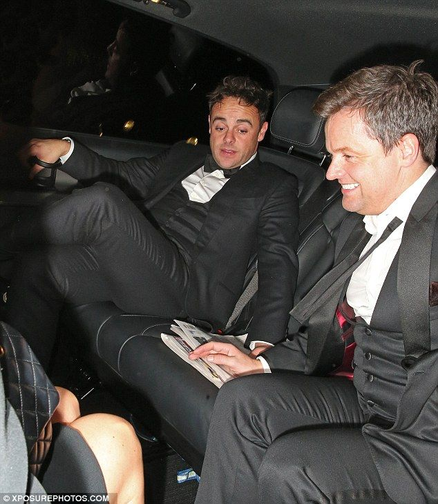 Lads! Dec smiled as he hopped in as Ant appeared to lead the conversation in the car...