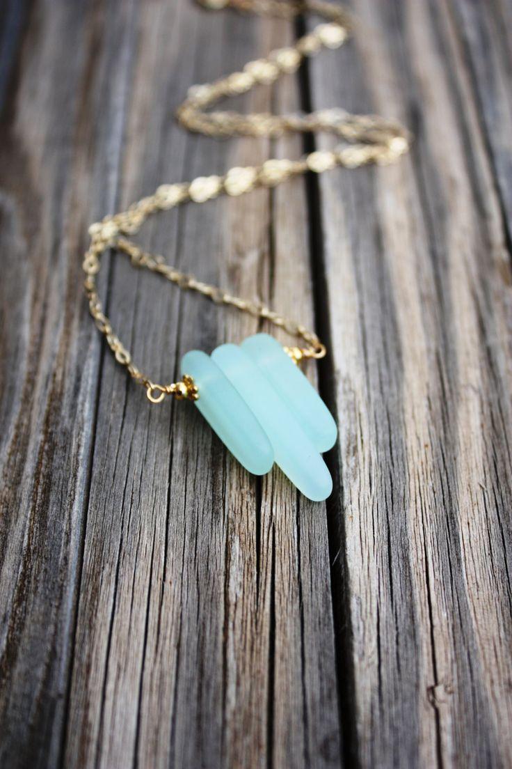 Sea Glass Necklace Seaglass Necklace Sea Glass by DRaeDesigns