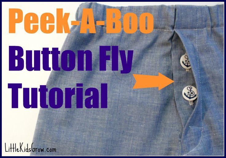 Peek a Boo Button Fly Tutorial