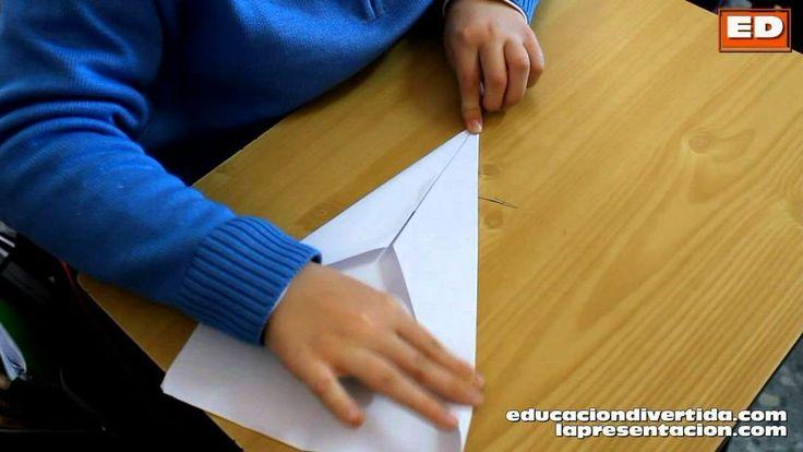 Cómo hacer un avion de papel - Papiroflexia