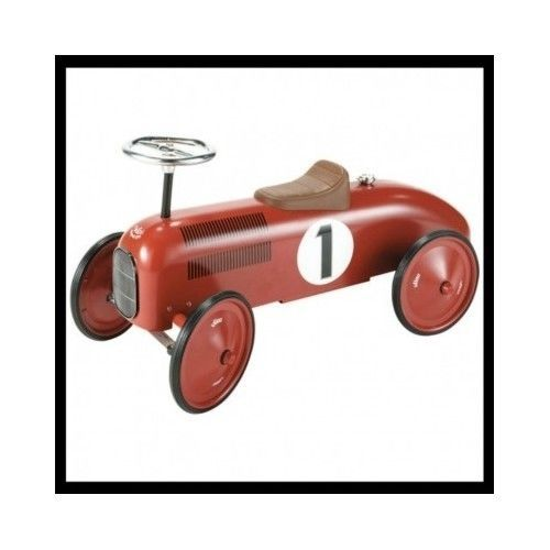Kids-Ride-On-Car-Vintage-Style-Retro-Traditional-Metal-Play-Toy-Wheels-Gift-Red