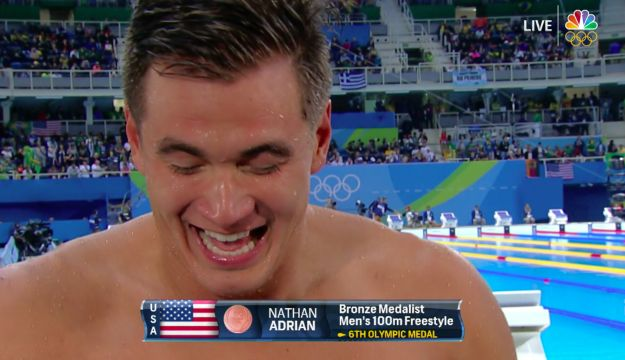 There you have it, folks: The gold medal champion in smiling, Nathan Adrian. Thanks for making all of our days, Nathan! | Nathan Adrian's Smile Is The Best Part Of The Olympics