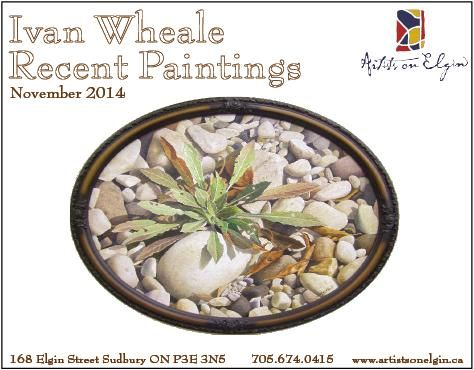 Invitation to 'Recent Paintings' by Ivan Wheale. November 2014 at Artists on Elgin.