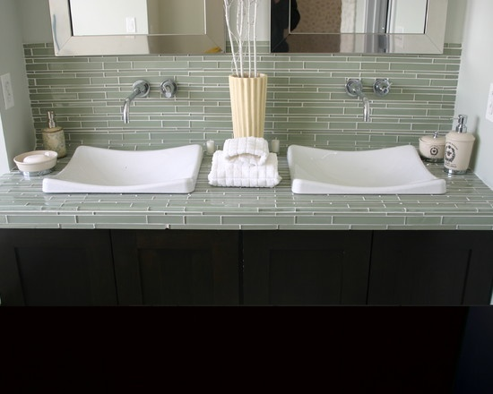 Tile Countertop Bathroom Design Pictures Remodel Decor And Ideas