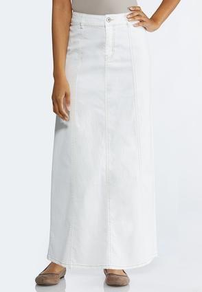 5de373e8cb Plus Size White Denim Maxi Skirt Skirts Cato Fashions in 2019   2019 ...