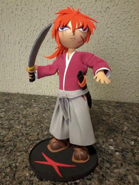 Roberto Pradoster: Samurai X (Rurouni Kenshin) em E.V.A. 3D (Fofucha)...