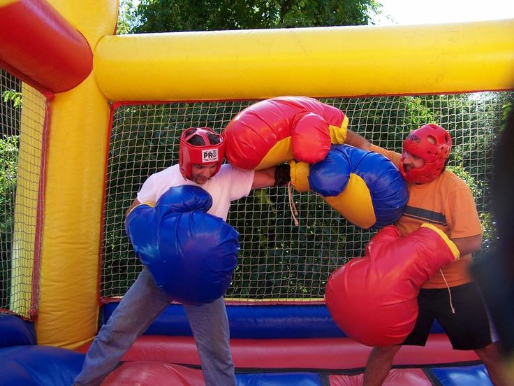 Bouncy Boxing Inflatable. Competition and fun entertainment ideas perfect for college events, corporate parties, carnivals, and much more! Chicago Party Rentals.
