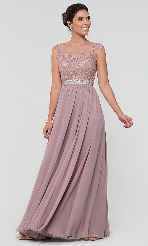 Taupe Chiffon Mother of the Bride Dresses