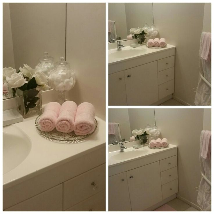 Pretty bathroom decor