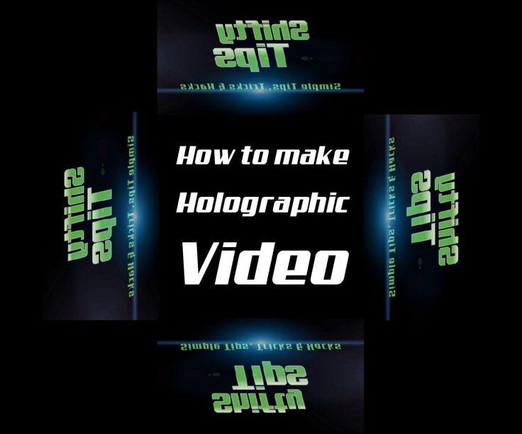 How to make a hologram video for DIY 3D Hologram Projector