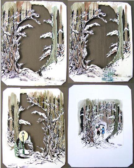 Shadowbox diorama, Narnia (lots of pics) - PAPER CRAFTS, SCRAPBOOKING & ATCs (ARTIST TRADING CARDS)