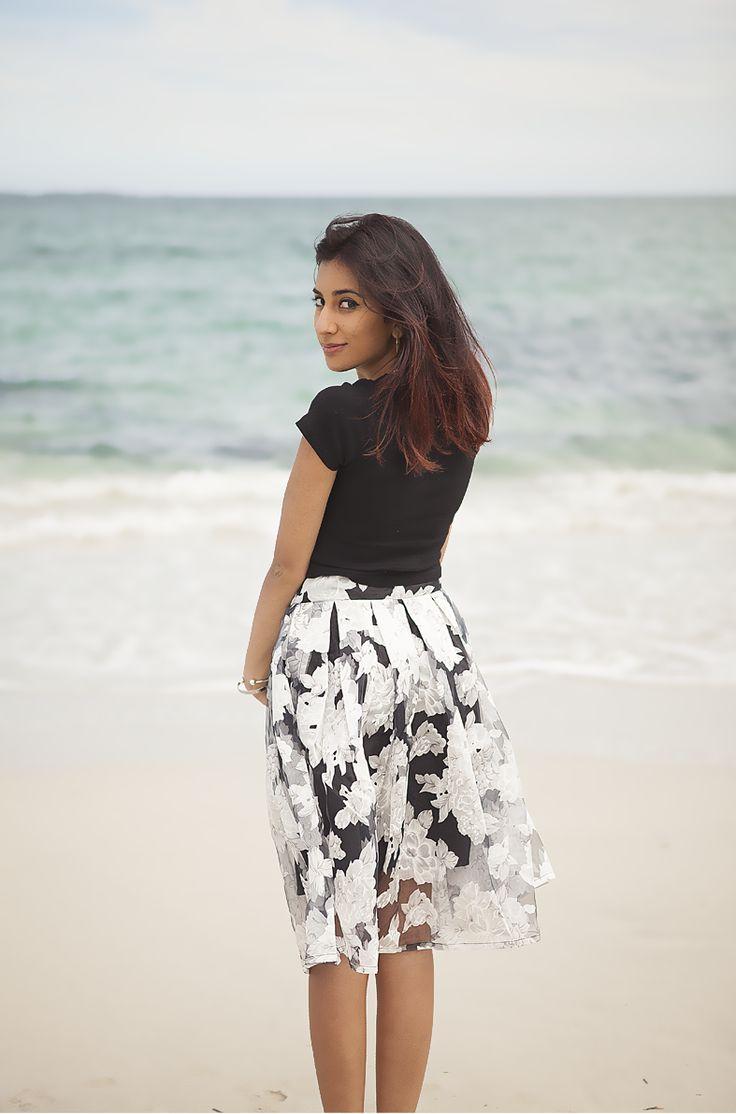 Ornate Sheer Skirt - AU$47  Shop: http://www.leftlanevintage.com/products/details/ornate-sheer-skirt