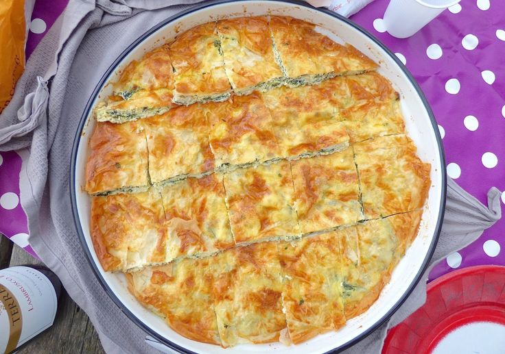 Pita au Fromage et aux Épinards - Recette Bosniaque
