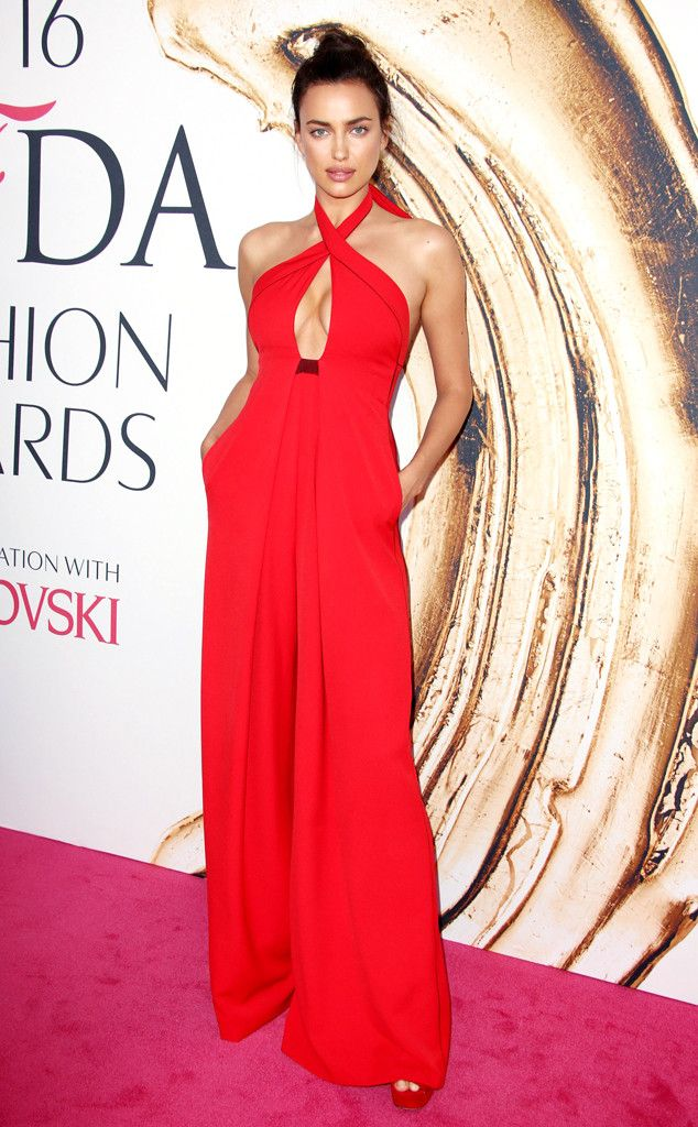 Irina Shayk from Best Dressed at 2016 CFDA Fashion Awards  The model was red-hot in a wide-leg jumpsuit! The only thing that was off were her matchy-matchy shoes.