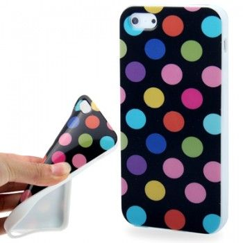 iPhone 5/5S Cases : Dot Stylish TPU Case for iPhone 5 & 5s - Black