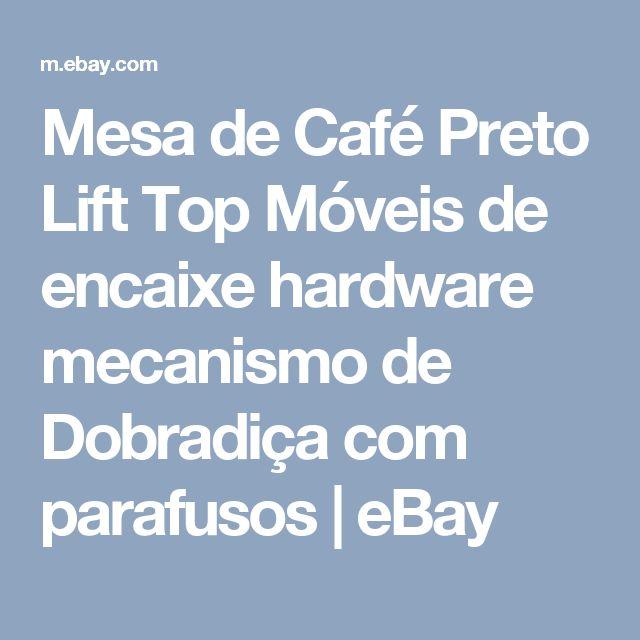 Mesa de Café Preto Lift Top Móveis de encaixe hardware mecanismo de Dobradiça com parafusos  | eBay