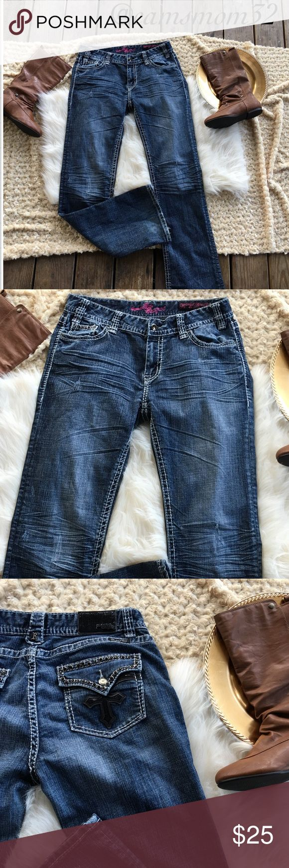 Rock and roll cowgirl jeans Great condition. Mid rise jeans. Size 31 x 34. Bundle more items and save. Thanks for checking out this listing Rock & Roll Cowgirl Jeans Boot Cut