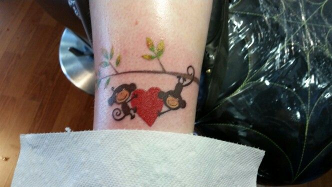 Monkey love by rock star tattoo tacoma artist bryan knapo for Tattoo parlors in tacoma