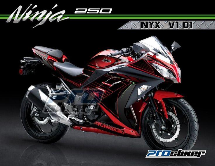 Stiker Ninja Fi 250cc Warna Merah Motif Desain Grafis NYX V1 01 Prostiker