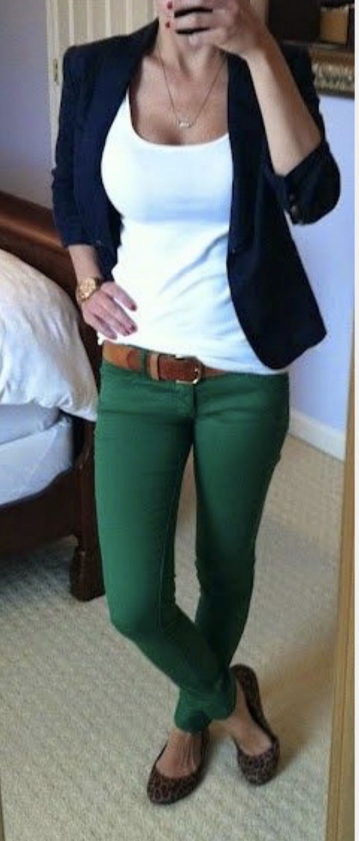 Love the pants and casual blazer!