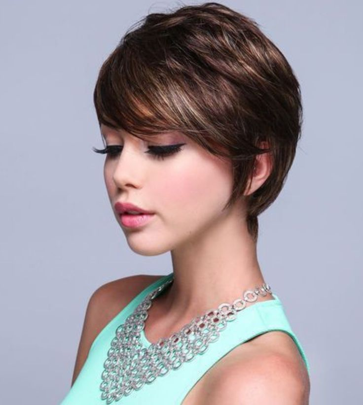 Very Cute Long Pixie Cut Per Hair