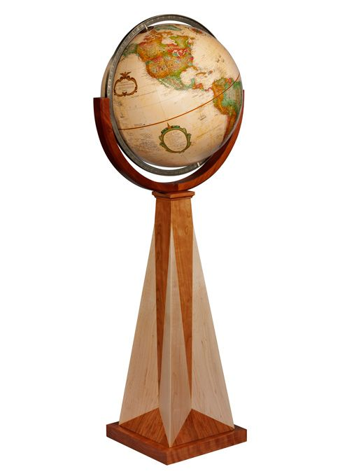 Replogle Obelisk Frank Lloyd Wright Floor Globe, With Solid Maple And  Cherry Hardwood Stand,