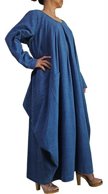 ChomThong Hand Woven Cotton Loose Multi Drape Dress