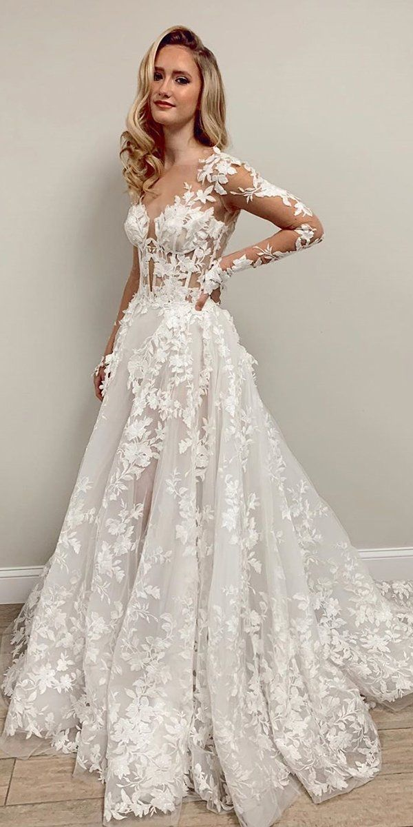 36 Chic Long Sleeve Wedding Dresses Wedding Forward In 2020 Wedding Dress Long Sleeve Wedding Dresses Wedding Dress Vintage Sleeves