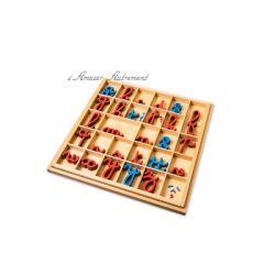 Alphabet mobile cursif en bois
