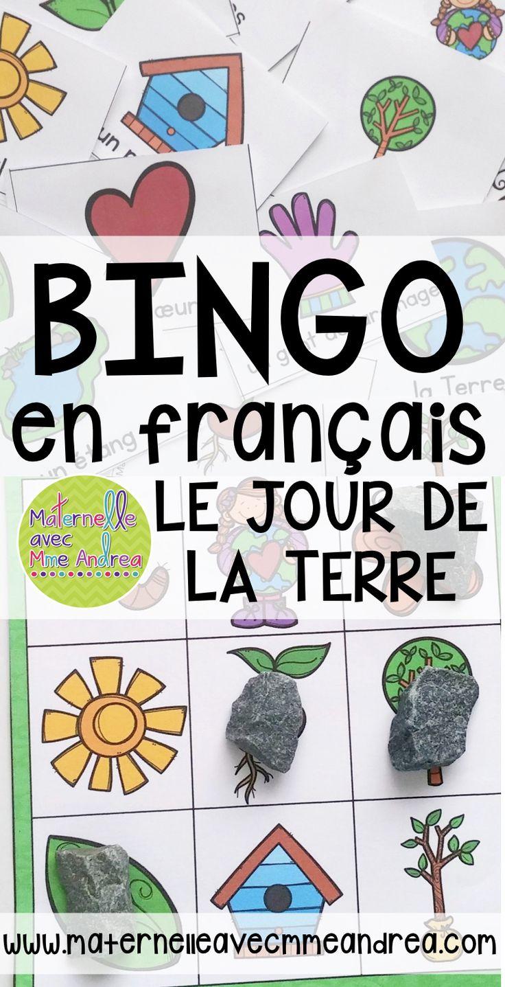 Mini Bingo pour le Jour de la Terre Faire les él¨ves pratiquer du vocabulaire important
