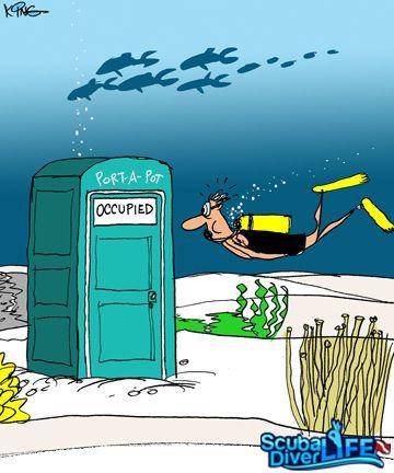 Scuba Cartoon | Underwater Bathroom | |