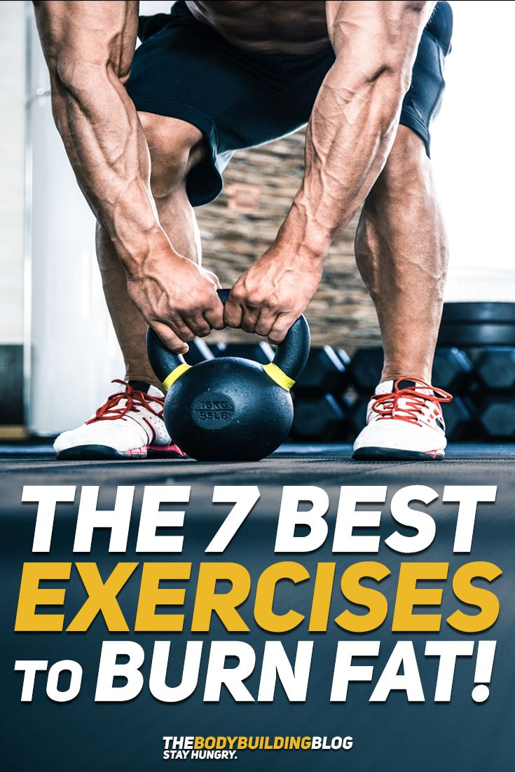 Check out The 7 Best Exercises to Burn Fat so that you can boost your metabolism and your weight loss results! #fitness #health #gym #exercise #workout