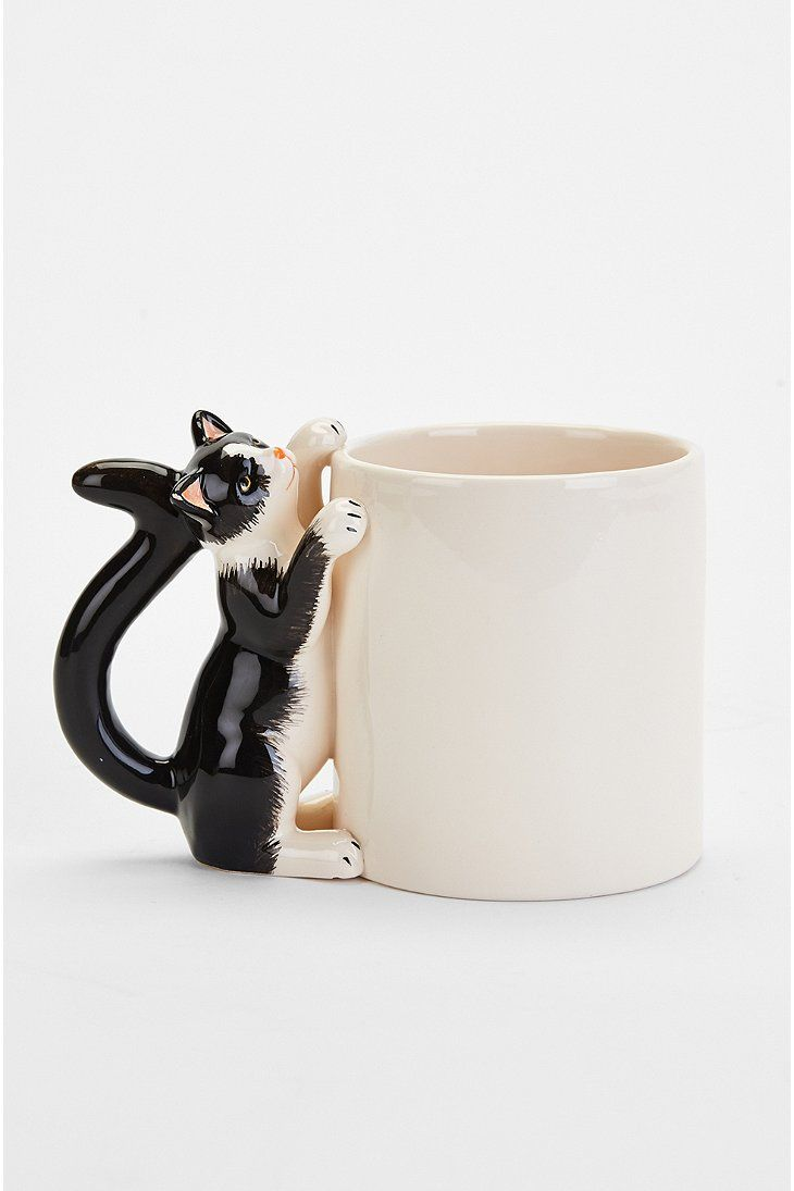 Plum & Bow Climbing Cat Mug - Urban Outfitters
