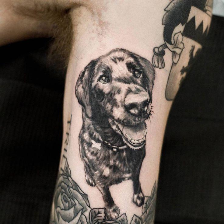 @hyphydillonhyatt thanks duder! #tattoos #seattle #seattletattoo #nickharttattoo #fkiron #spektraegdex #eternalink #seattletattooartists #tattoo #dogtattoo #dogportraittattoo (at Nick Hart Tattoo)