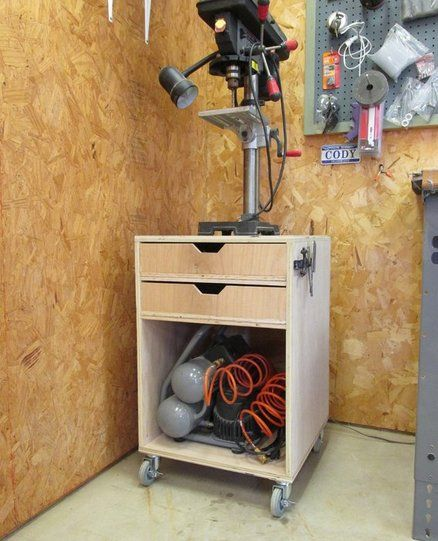 Rolling Drill Press Stand                                                                                                                                                                                 More