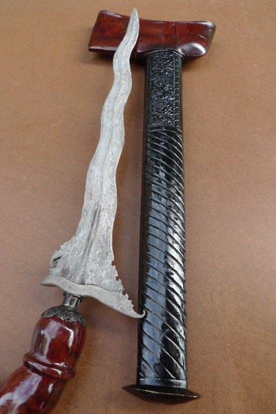 WHITE BLADE KERIS ACHEH TENGAH Weapon Knife Blade Dagger Sword Kris Kriss Borneo