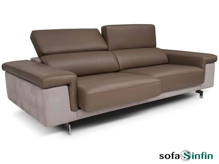 Sofá moderno de 3 y 2 plazas modelo Romina fabricado por Losbu en Sofassinfin.es