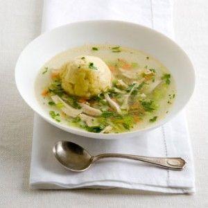 Dana's Fluffy Matzah Ball Soup