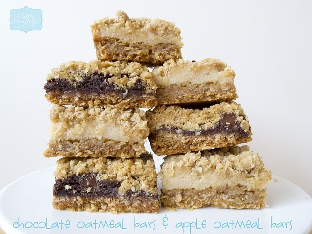 chocolate oatmeal bars & apple oatmeal barsBrown Sugar, S'More Bar, S'Mores Bar, Chocolates Oatmeal, Bar Apples, Oatmeal Bar, Apples Oatmeal, Cups Flour, Baking Soda