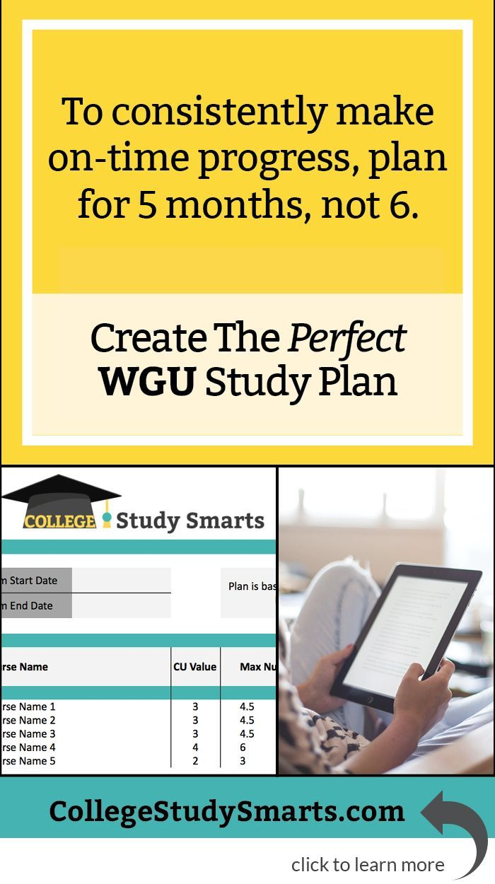 create your perfect wgu study plan with free excel term course