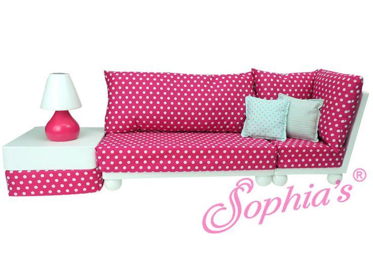 Love Seat Sofa Sectional Set Fits American Girl Dolls