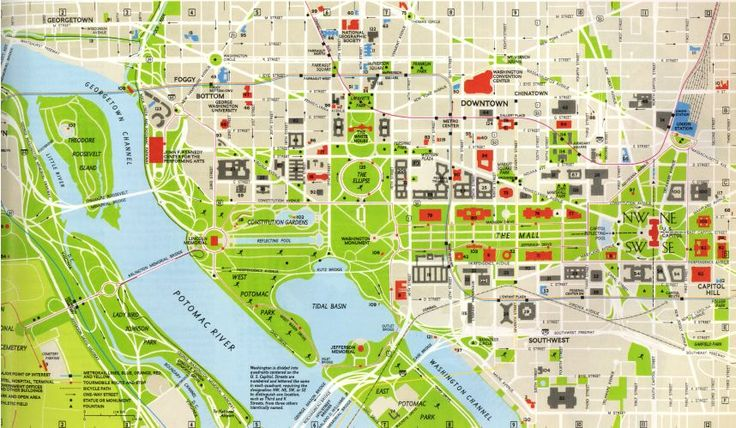 Irresistible image for printable map of washington dc