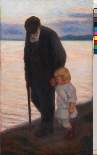Hugo Simberg: Iltaa kohti (1913)