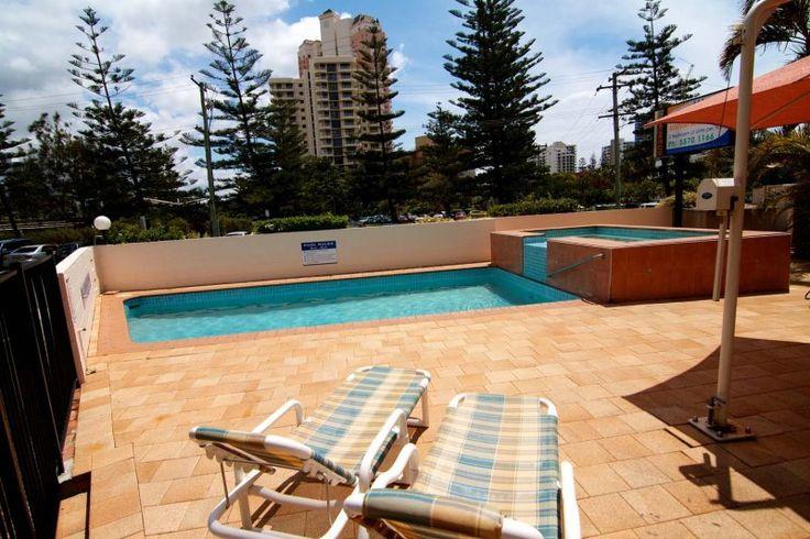 Barbados Holiday Apartments - Swimming Pool View - Holiday Apartments Broadbeach Gold Coast