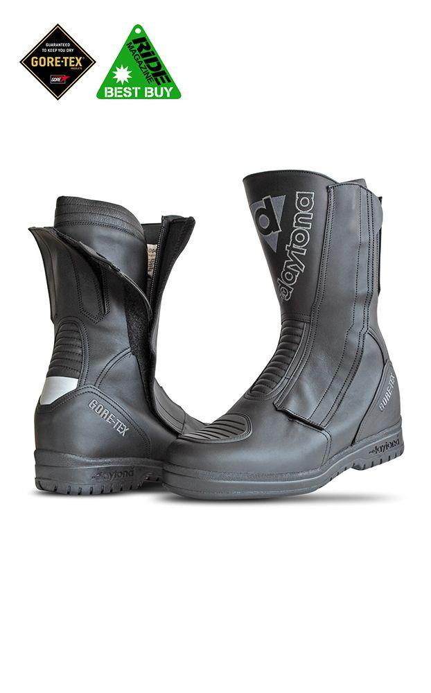 Daytona Lady Star Leather GoreTex® Waterproof Ladies Motorcycle Boots with 'Hidden Heel' - LadyBiker.co.uk