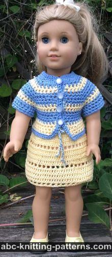 American Girl Doll Elizabeth Summer Skirt and Jacket