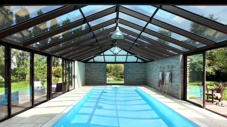 Avant apres piscine couverte interieur veranda aluminium
