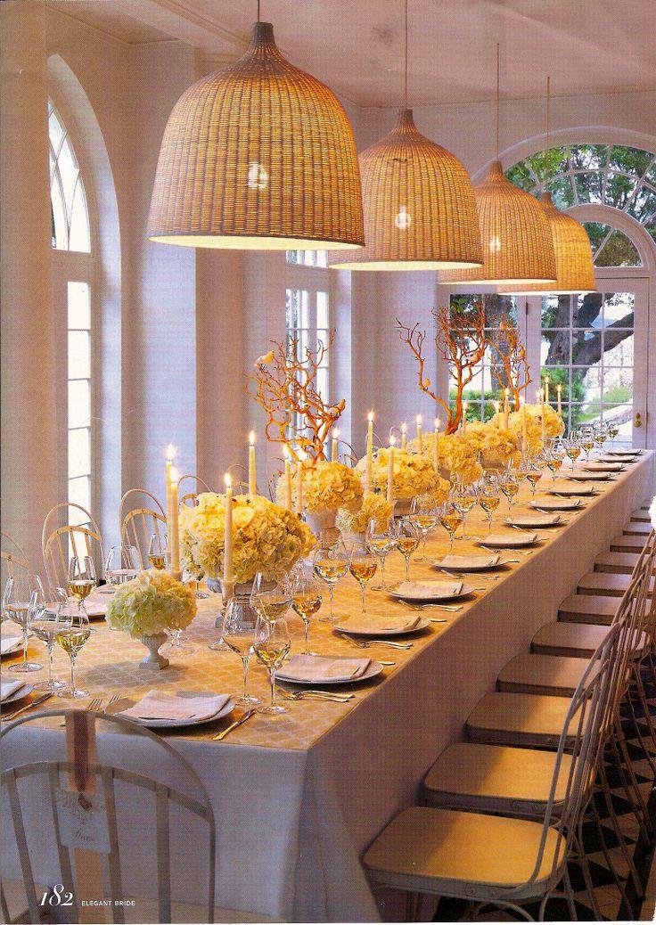 Large gathering table setting