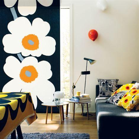 Unikko 50th anniversary fabric from Marimekko. Design by Maija Isola & Kristina Isola.