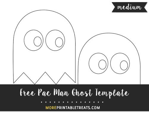 Free Pac Man Ghost Template Medium Size Shapes And